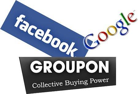 Groupon, facebook, google, sconti, marketing, social media, promozioni, e-commerce, marketingando