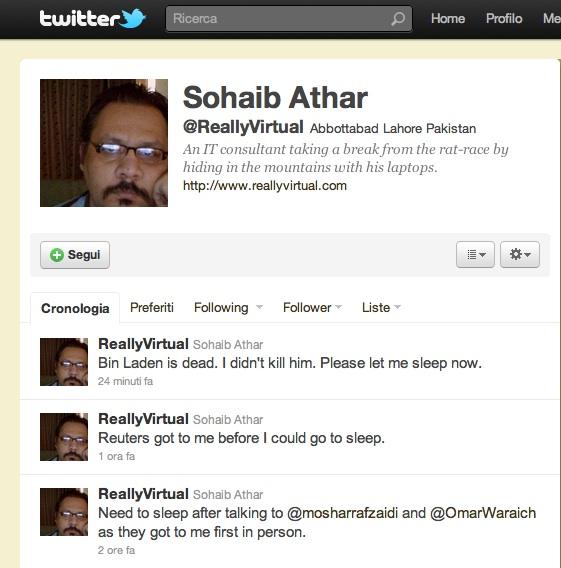 twitter, osama bin laden, messaggio, marketing, social media