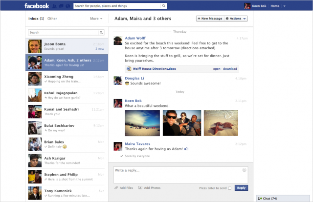 facebook, marketingando